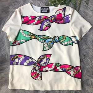 Boutique Moschino Scarf Top